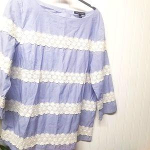 Banana Republic Boho Crochet Top Size XL
